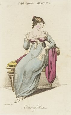 Lovely colours, simple style. Lady's magazine, 1814