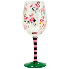Amazon.com: Lolita Love My Wine Glass, Funky Flamingo: Kitchen & Dining