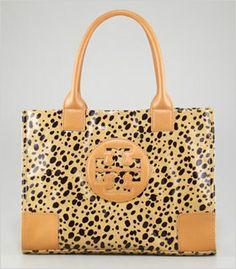 Tory Burch cheetah print mini tote