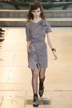 Isabel Marant | Fall 2016 Ready-to-Wear | 26 Grey checkered short sleeve mini dress