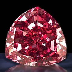 Red Diamonds - ~$ 2 million per carat  Though all colored diamonds are incredibly rare, none are more so than the red diamond.  Less than 20 exist today and most weigh less than half a carat, however there are three that weigh over 5 carats with the biggest being the Moussaieff Red (5.11 carats).