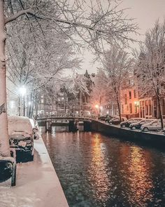 Hi, I'm Gabriel, a photographer based in Amsterdam, The Netherlands. Below you can see a small part of the snowy moments from the most famous places in Amsterdam - Dec Winter Szenen, Winter Magic, Winter Time, Winter Night, Winter Coat, Beautiful World, Beautiful Places, Wonderful Places, Places To Travel