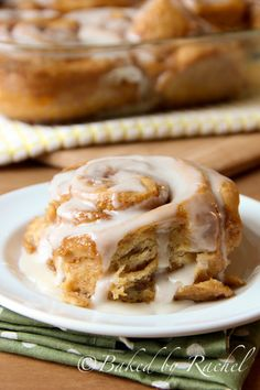 Overnight Gingerbread Cinnamon Rolls from @Rachel {Baked by Rachel}