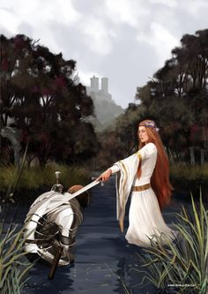 Medieval the lady of the lake with Arthur I assume King Arthur Legend, Legend Of King, Medieval Art, Medieval Fantasy, Tristan Et Iseult, Jean 3 16, Pre Raphaelite Paintings, Mists Of Avalon, Roi Arthur