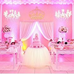 15 Ideas baby shower ides for girs disney pink for 2019 Cinderella Birthday, Ballerina Birthday, Barbie Birthday, Princess Birthday, Quinceanera Decorations, Quinceanera Party, Birthday Decorations, Baby Shower Parties, Baby Shower Themes