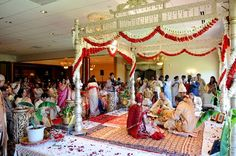 indian wedding Ceremony, traditional mandap