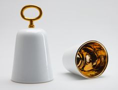 Bosa objects at Maison and Objet. The Unlock bell by CtrlZak is lined with gold and available in black and white.