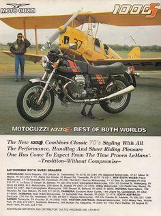 Moto Guzzi 1000S 1991 Australian magazine advertisement. by VintageMotorcyclesOz on Etsy