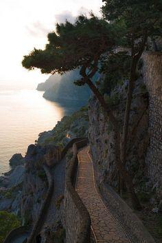 Via Krupp, Capri, Campania, Italy.