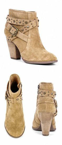 Boho Stud Detail Ankle Booties ♥