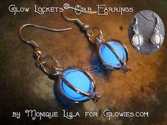 Glow Lockets Orb Earrings Silver by MoniqueLula on Etsy, $18.00