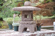 """Handmade Hypertufa Lantern On Etsy. 129.00, via Etsy. This square lantern is approximately 15"""" in diameter and 18"""" high"""