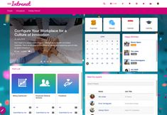 Need some intranet software inspiration? Take a look at our favourite intranet designs & templates and discover what our software can do. Sharepoint Design, Sharepoint Intranet, Intranet Design, App Design, Layout Design, Portal Design, Student Portal, Page Layout, Layouts