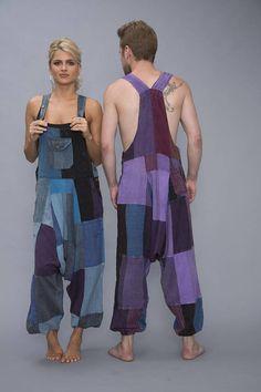 Harem Patchwork Jumpsuit Aladdin Overalls Women Romper Overalls Women, Chill Outfits, Hippie Outfits, Cotton Pants, Hippie Chic, Rompers Women, Aladdin, Loungewear, Zen