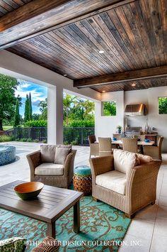 "The Sater Design Collection's luxury, Tuscan home plan ""Monterchi"" (Plan #6965). saterdesign.com"