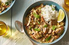 Recipe: Spicy Summer Vegetable Curry with Toasted Coconut & Cilantro Rice - Blue Apron