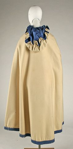 Cloak ca 1868, American or European, silk - MM collection