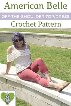 Read on for the free American Belle crochet pattern! The women's sizes come in XS to Premium Printable PDF also available! Crochet Summer Tops, Crochet Halter Tops, Crochet Shirt, Crochet Vests, Crochet Cardigan, Crochet Edgings, Shawl Patterns, Crochet Motif, Ponchos