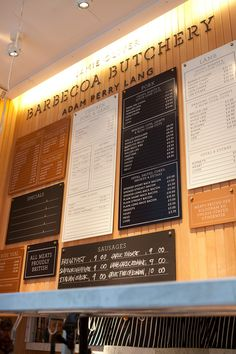 similar but different typefaces  Barbecoa menu board