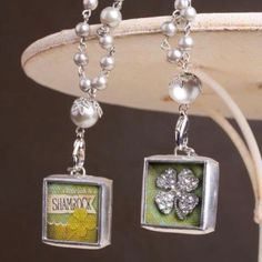Bring some luck to your life with this handcrafted, just for you, shamrockin' charm! Pictured as 2 necklaces but one is the front design and the other is the back. www.jewelkade.com....