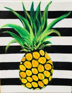 Diy canvas art 205687907967986611 - Pineapple Painting On Canvas – Step By Step Painting Source by abetha Flower Painting, Summer Painting, Cute Paintings, Small Canvas Paintings, Simple Canvas Paintings, Pineapple Painting, Step By Step Painting, Simple Acrylic Paintings, Diy Canvas Art