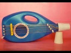 A very clean guitar. Instrument Craft, Homemade Musical Instruments, Making Musical Instruments, Plastic Bottle Crafts, Plastic Bottles, Music Activities, Activities For Kids, Projects For Kids, Diy For Kids