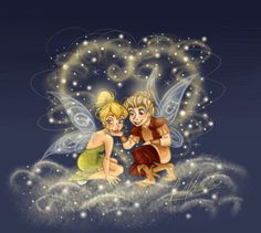Tinker Bell and Terrence with pixie dust of love Tinkerbell Movies, Tinkerbell And Friends, Tinkerbell Disney, Disney Fairies, Arte Disney, Baby Disney, Disney Art, Disney Magic, Disney Pixar