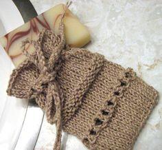 Knitting+Ideas | Knit Soap Sack by Arly | Knitting Ideas