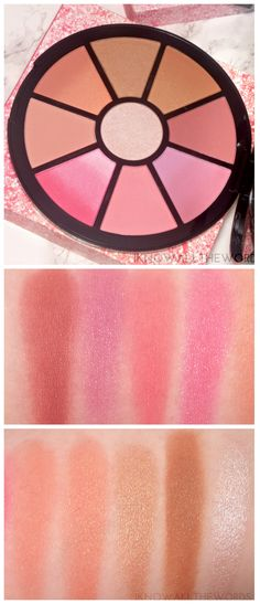 Sephora Collection Ombre Osession Face Palette Swatches
