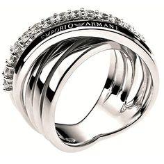 074c1f77709a8 Armani Damen-Ring Edelstahl silber EG2730040 Armani Rings, Emporio Armani,  Ladies Silver Rings