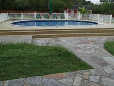 Above ground pool - rugged life