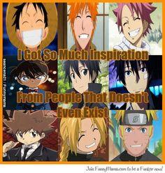 SO TRUE! Luffy, Ichigo, Natsu, Conan, Kirito, Rin, Tsuna, Edward, Naruto