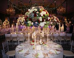 romantic candle light ballroom by David Tutera