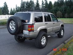 Spare Tire Carrier on a Grand Cherokee Jeep Grand Cherokee Laredo, Grand Cherokee Limited, Jeep Zj, Jeep Wrangler, Jeep Mods, Custom Trucks, Mopar, Offroad, Cool Cars