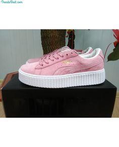 Womens Puma Rihanna X Creepers Casual Shoes Suede Pink White - Puma Pink  Puma Suede cc821599e