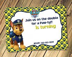 Free Chase Paw Patrol Birthday Invites Template   DolanPedia Invitations Ideas