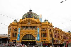 Melbourne. Flinder station
