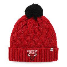 8756d875626 Womens Chicago Bulls  47 Brand Red Fiona Cuff Knit Beanie