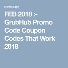 Grub hub coupon code