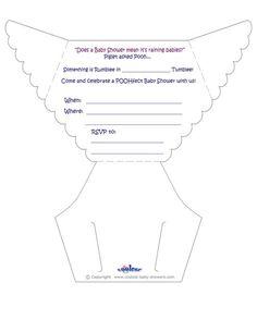 Moldes De Pañales Para Invitación De Baby Shower   Imagui
