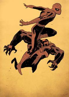 BENDIS! - westcoastavengers:   Spider-Man & Venom | Lorenzo...