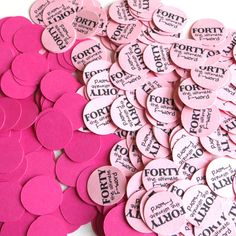 40th Birthday Party Confetti - Forty the Ultimate F-word, Pinks - 3/4 Inch Circles on Etsy, $6.00 40th Birthday Party Themes, 40th Bday Ideas, Birthday Ideas, Party Fun, Party Time, Party Ideas, Gift Ideas, 40 And Fabulous, Confetti