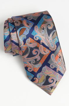 Ermenegildo Zegna 'Quindici' Print Silk Tie.