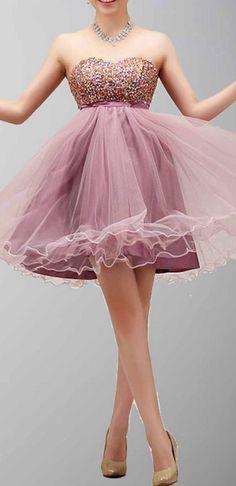 Short Homecoming Dress,Strapless H