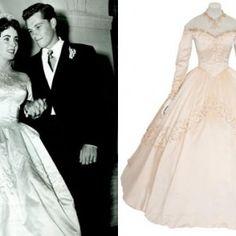 """A Christie's vai leiloar o vestido de noiva que a atriz usou em seu primeiro casamento, com Conrad Nilton, em 1950. O vestido é assinado por Helen Rose. Seu primeiro casamento acabou tornando-se um dos momentos mais marcantes da era de ouro de Hollywood fora das telas. Conhecido como """"o casamento dos casamentos"""", o enlace contou com convidados como Gene Kelly, Ginger Rogers, Fred Astaire e Esther Williams."""