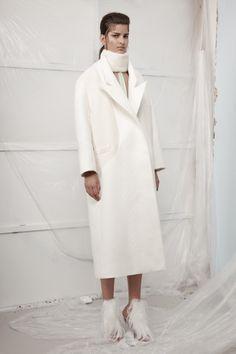 barbossa oversized coat with yoke nancy pleated apron (worn as top)