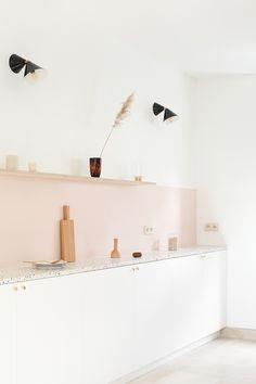 TDC: Pink terrazzo kitchen by Paris-based architects Heju Studio