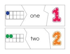 number beside 10-frame and laminate to use with playdough/beads/etc. also laminate with number blank so child can write own number beside 10-frame