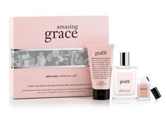 A classic scent is a perfect pick-me-up. We like the Philosophy Amazing Grace Mother's Day Fragrance Layering Collection