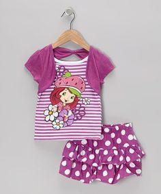 Strawberry Shortcake Polka Dot Tee & Skirt - Toddler